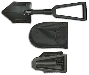 Pala Supervivencia Negra. 58 cm  33793
