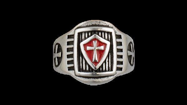 Anillo De Acero Templarios Escudo-Steel Rings