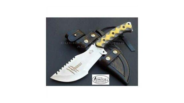 Cuchillo J&V CDA Saurius micarta bicolor