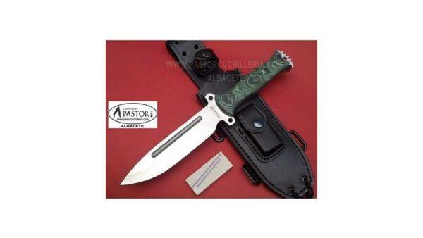 Cuchillo J&V CDA Combat micarta verde