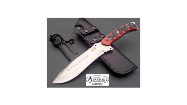 Cuchillo J&V CDA Explorer micarta bicolor