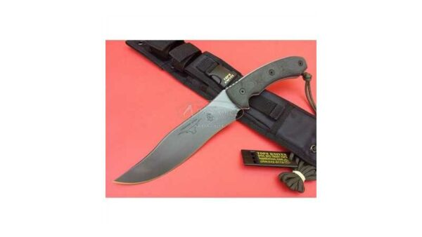 Cuchillo Tops Longhorn Bowie Black River Was TPLLONGBBRW