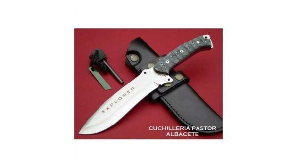 Cuchillo J&V CDA Explorer micarta negra