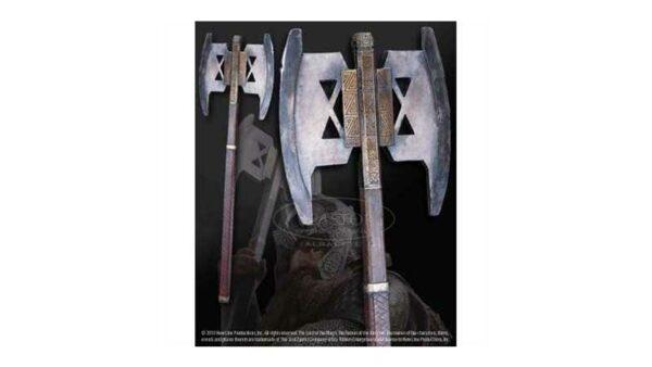 El Señor de los Anillos Hacha Gimli con soporte para pared