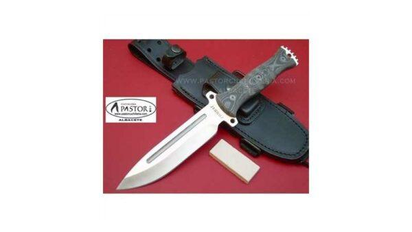 Cuchillo J&V CDA Combat micarta negra