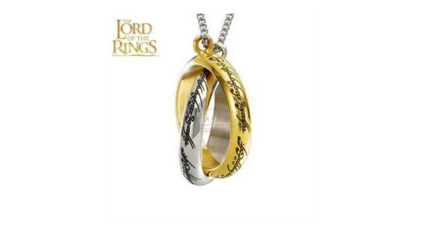 El Señor de los Anillos Colgante anillos entrelazados