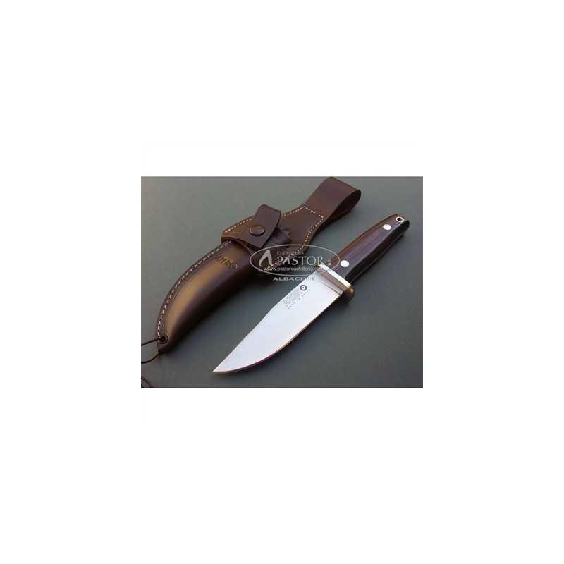 Cuchillo Caza Azero 202111 Madera Ebano