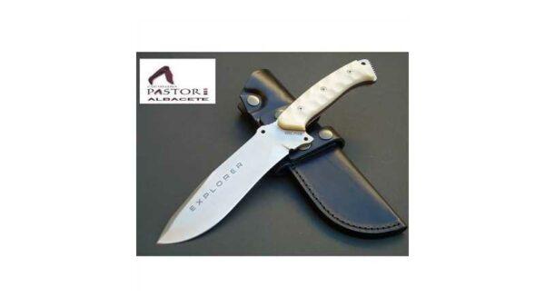 Cuchillo J&V CDA Explorer micarta blanca