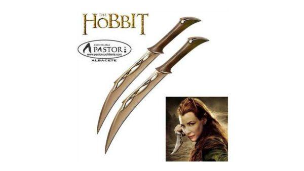 El Hobbit réplica cuchillos de cazador de Tauriel