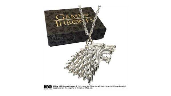 Juego de Tronos Colgante emblema de la casa Stark