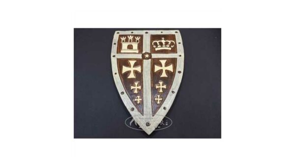 Escudo Medieval Madera 36,5 cm 26,5 cm