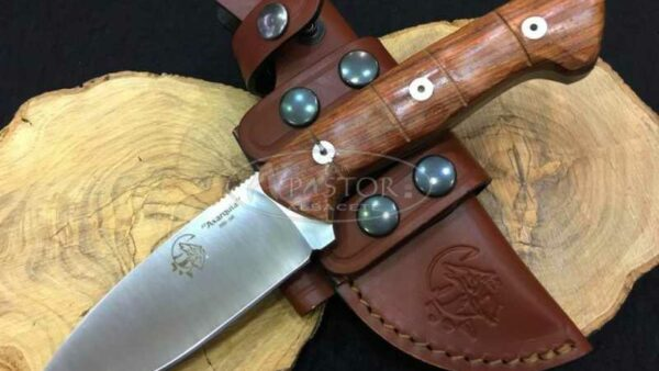 Cuchillo J&V CDA Axarquia madera Cocobolo Bambú
