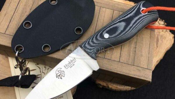 Cuchillo J&V CDA Hobbit Micarta Negra