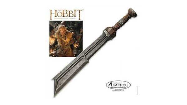 El Hobbit réplica oficial espada del gerrero enano Fili