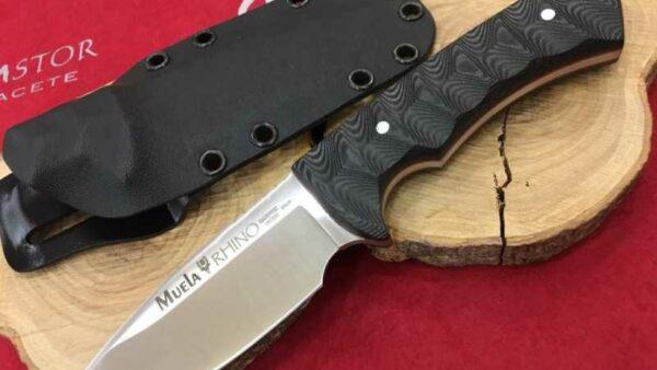 Cuchillo Muela Rhino 10SV.MK Kydex Micarta Negra