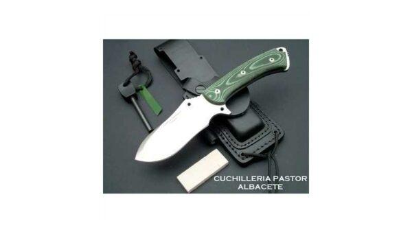 Cuchillo J&V CDA Hispanus D2 micarta verde