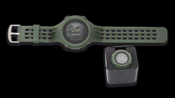 Reloj Táctico Verde Digital / Pantalla Negra
