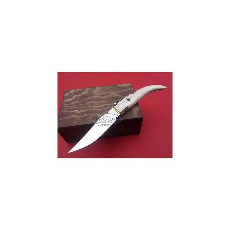Navaja Punta Ciervo Pulido PASTOR Hoja de 9,5 cm