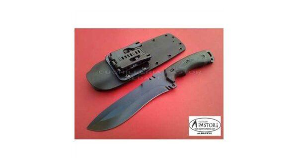 Cuchillo Cudeman 299NK Boina Verde Hoja Negra