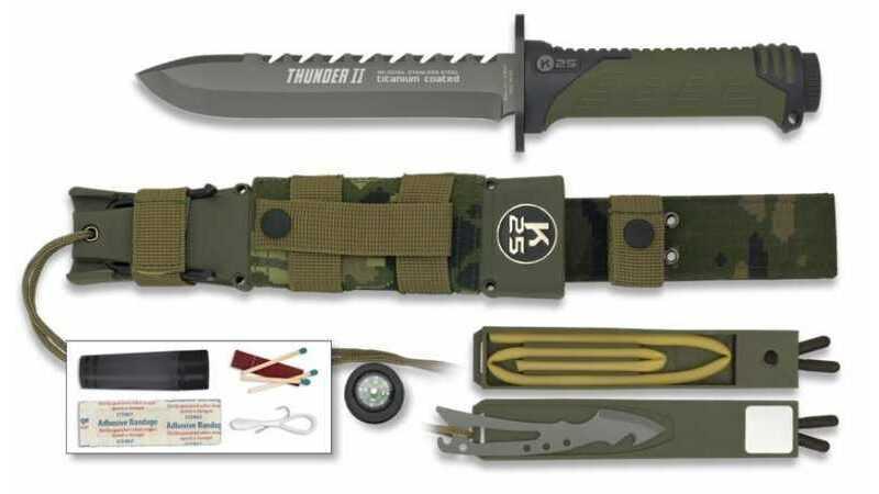 Cuchillo Supervivencia K25 Thunder II Camo 32134