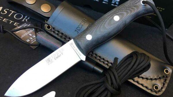 Cuchillo Joker Ember F Micarta CM123-P con Pedernal