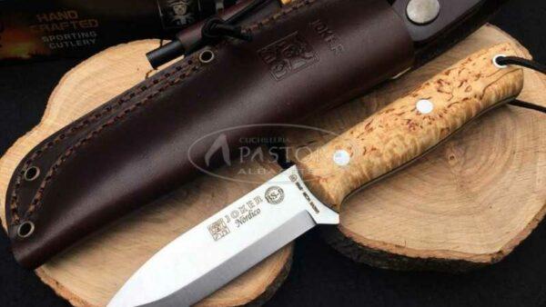 Cuchillo Joker Nordico Abedul CL115-1 con pedernal