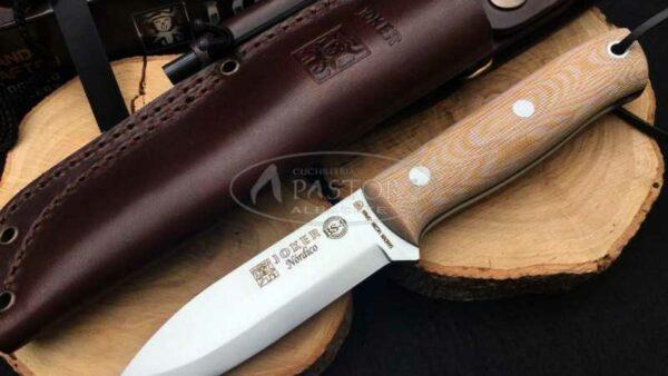 Cuchillo Joker Nordico BS9 Micarta CM115-1 con pedernal