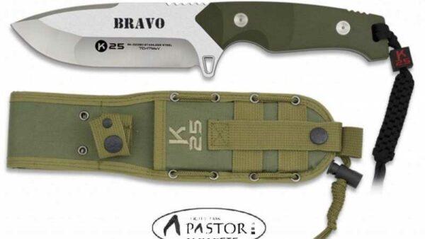 Cuchillo K25. BRAVO.cachas verde 32260