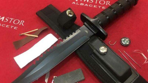 Cuchillo Supervivencia Third Negro
