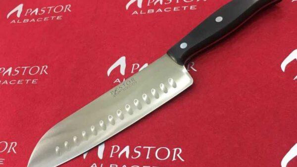 Cuchillo Santoku Pastor Hoja de 18,5 cm