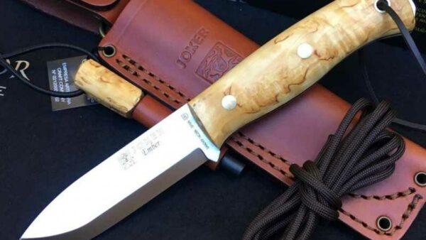 Cuchillo Joker Ember Abedul CL122-P con Pedernal