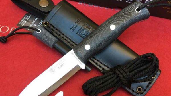 Cuchillo Joker Ember Scandi Micarta CM122-P con Pedernal
