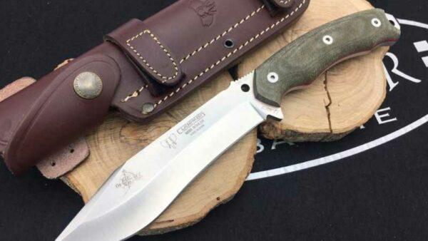 Cuchillo Cudeman 125V JJSK2 Micarta Canvas Verde