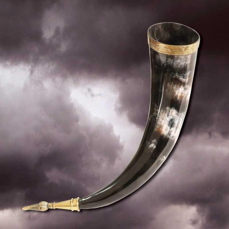 Vaso Cuerno Vikingo de Jarl, 36 cms.