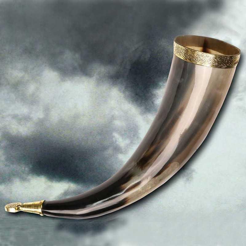 Vaso Cuerno Vikingo de Rollo, 38 cms.