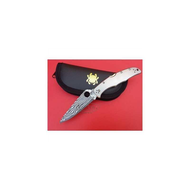 Navaja Spyderco Endura 4 SC10TIPD Titanio Damasco