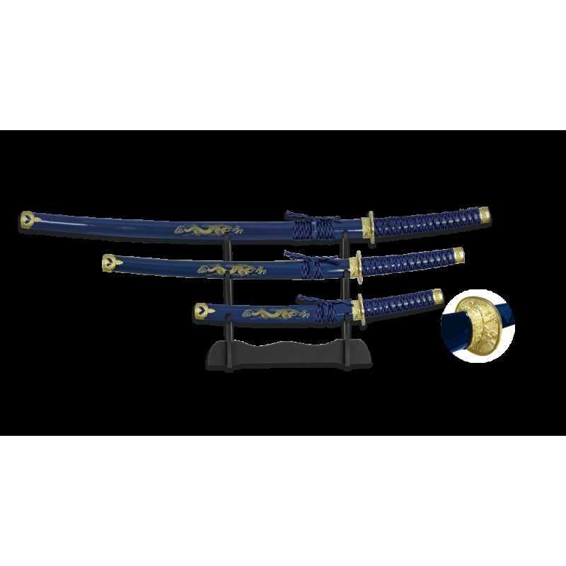 Tole 10 Set 3 Katanas Samurais 31515