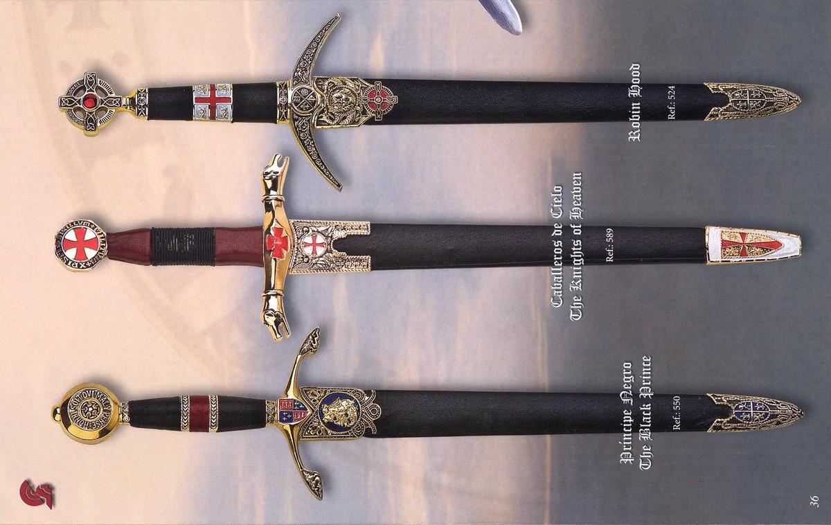 Art Gladius Dagas Príncipe Negro, Caballeros del cieloy Robin Hood
